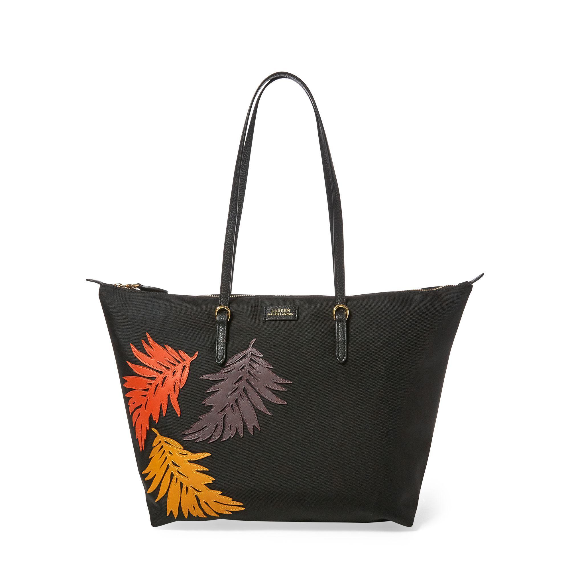 Lyst - Ralph Lauren Palm Leaf Tote Bag in Black 3ec0ad6356