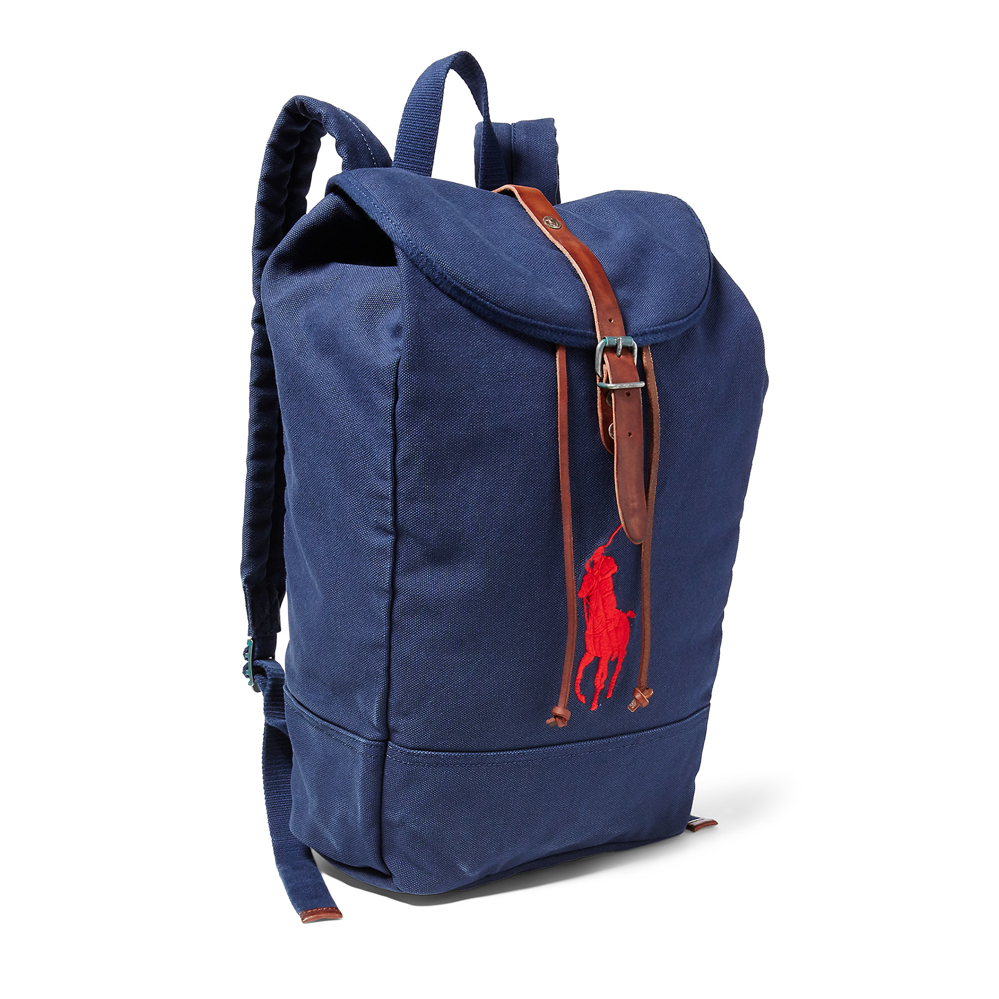 Lyst - Polo Ralph Lauren Big Pony Canvas Backpack in Blue for Men e5ae106639a46