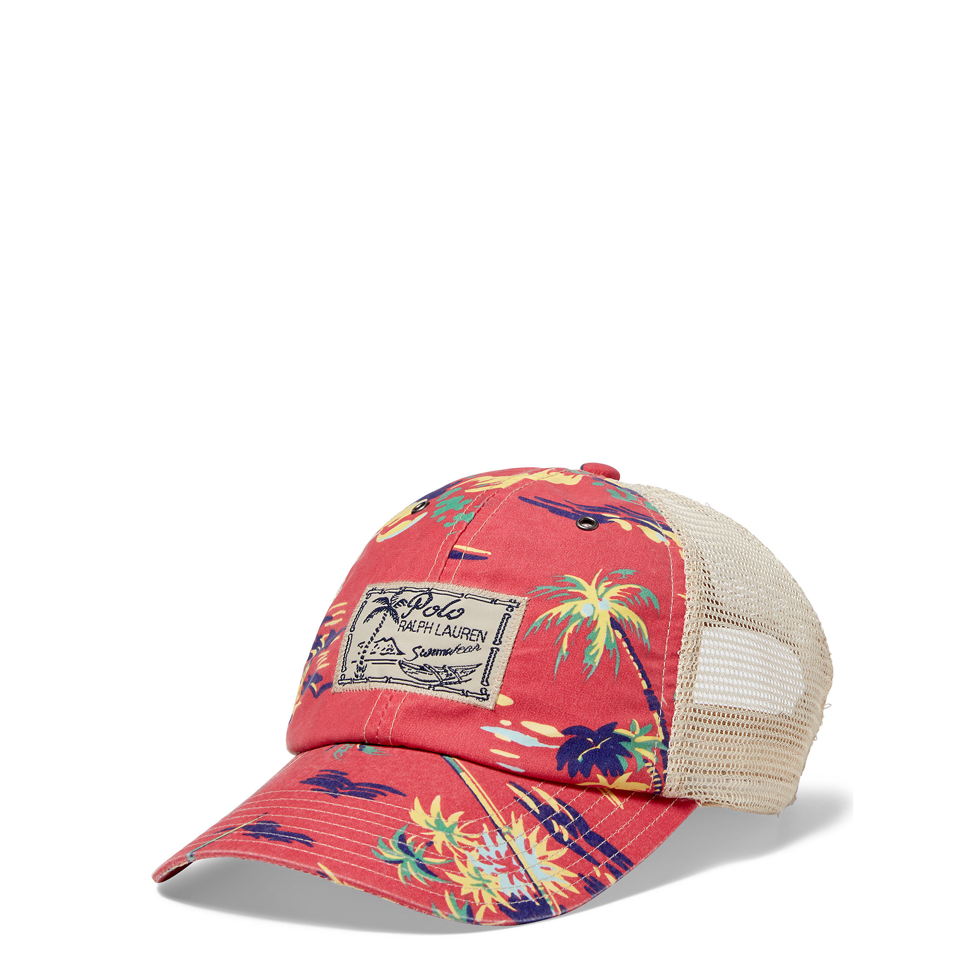Lyst - Polo Ralph Lauren Mesh Trucker Hat in Red for Men f9dc90c63f24