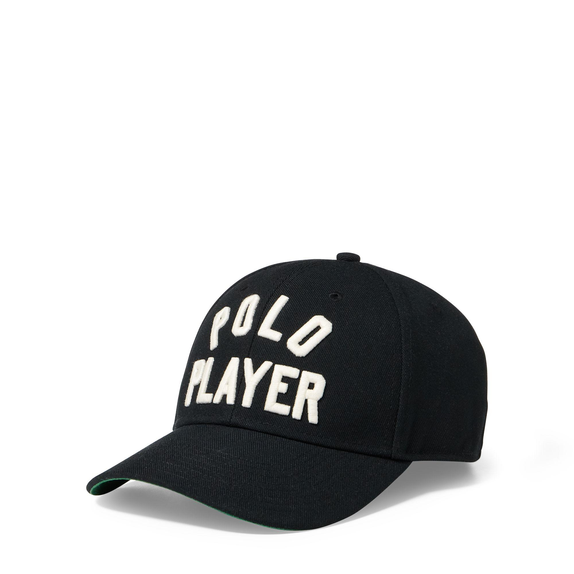 Lyst - Polo Ralph Lauren Polo Player Twill Baseball Cap in Black for Men 9ae194ff8cc
