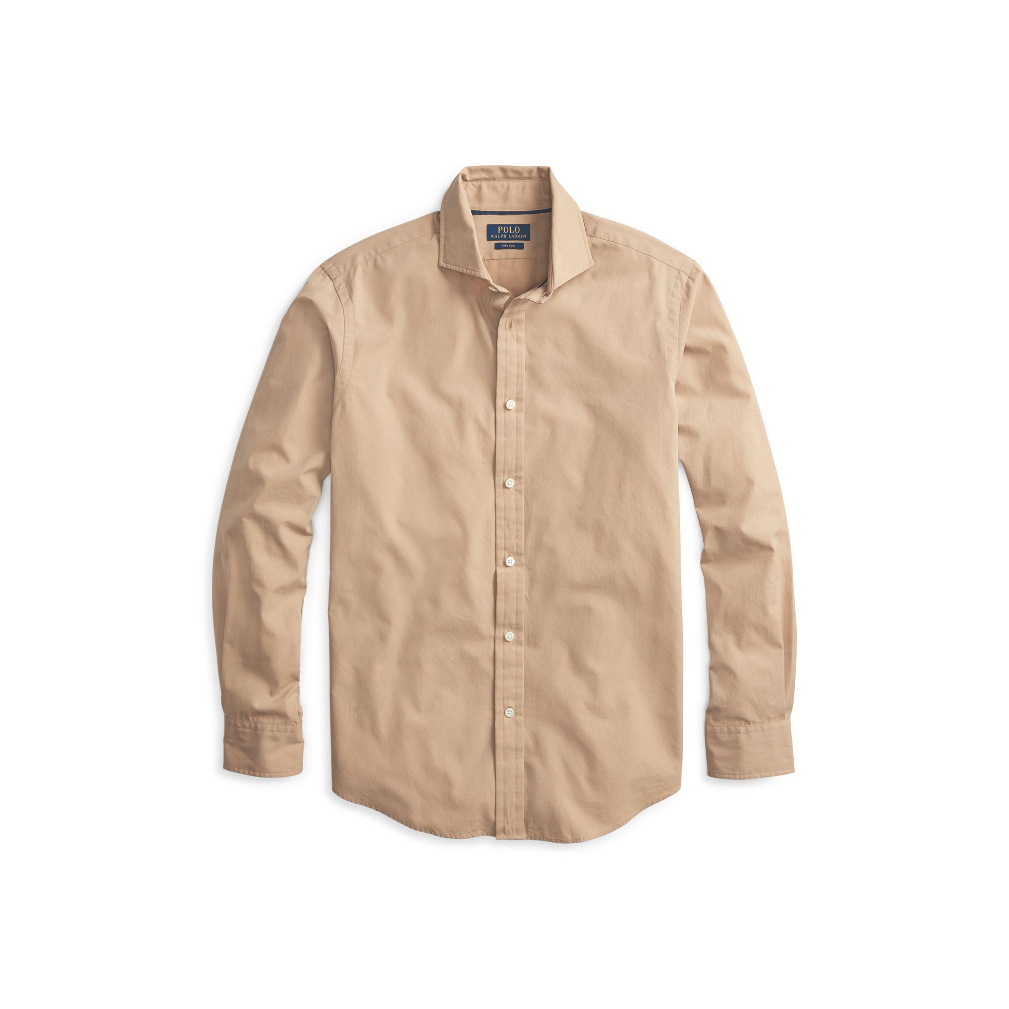 6918f4af696 Polo Ralph Lauren - Natural Classic Fit Poplin Shirt for Men - Lyst. View  fullscreen