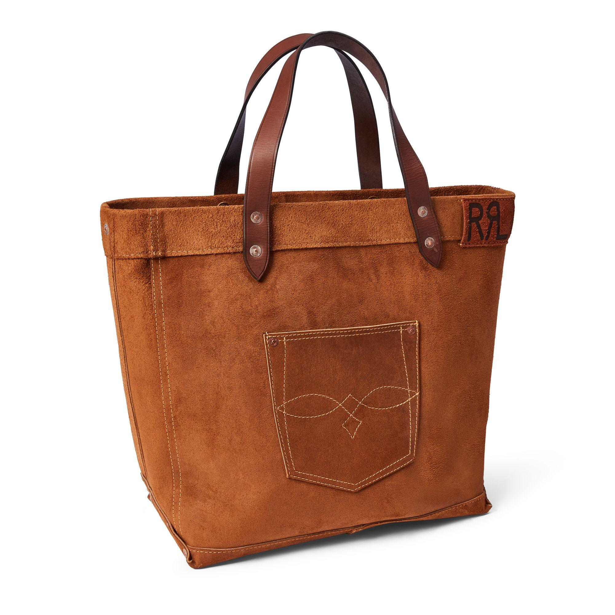 84f7da329a Lyst - RRL Ranch Suede Tote in Brown for Men