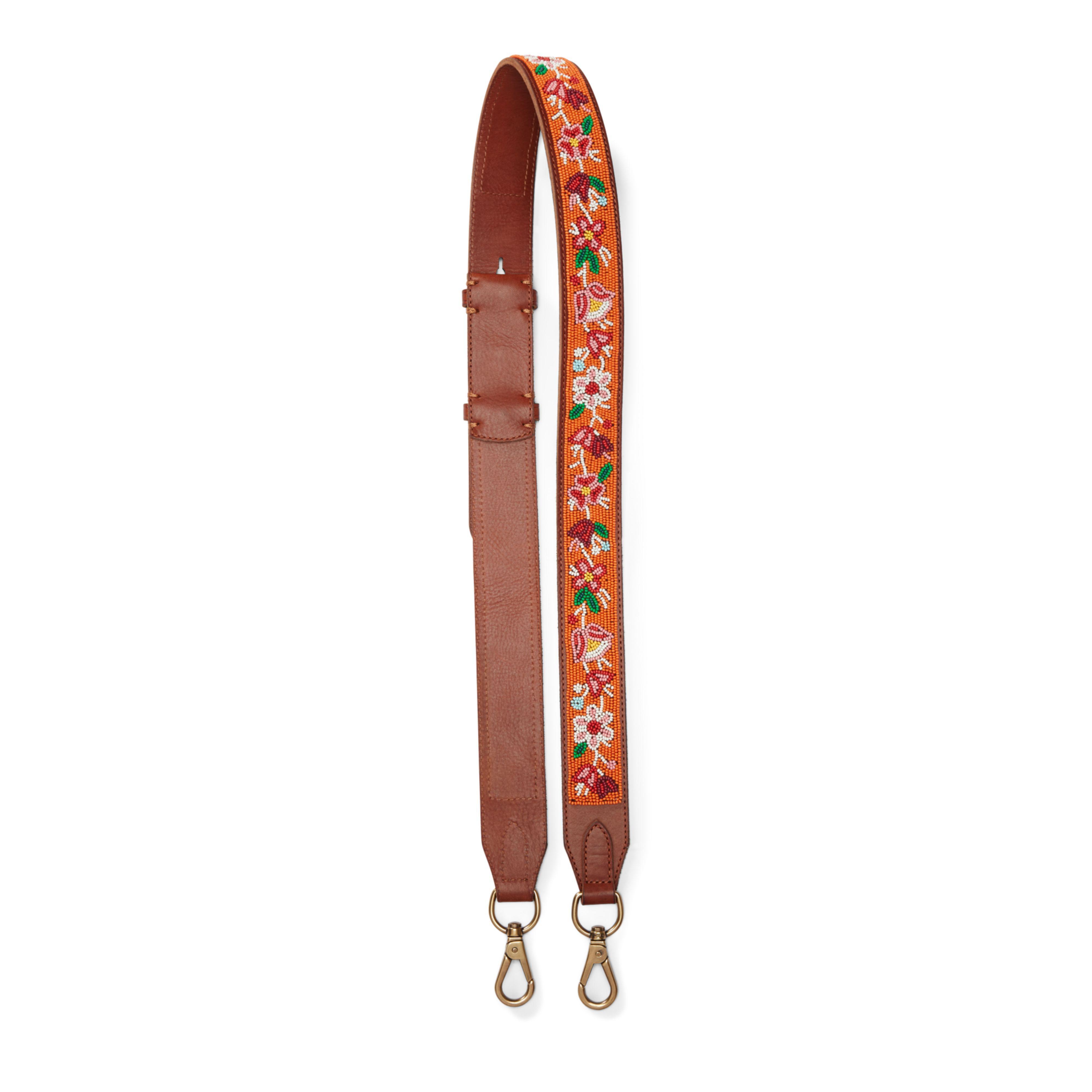 Lyst - Polo Ralph Lauren Floral Leather Strap in Orange d8385b3e8d