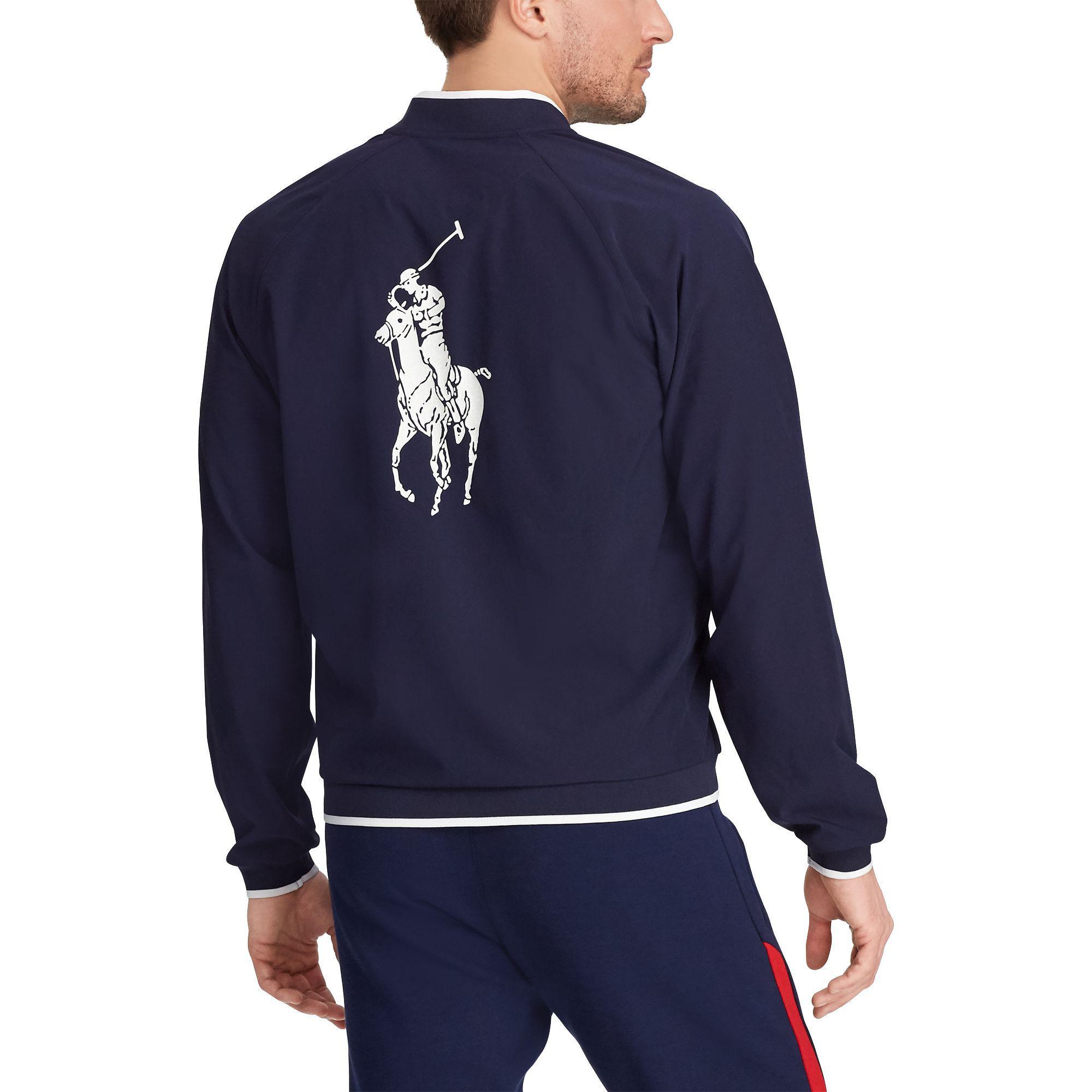 hombre Open Pantalones Linesman Lauren cortavientos Chaqueta Polo Ralph para nN0Z8OPwkX