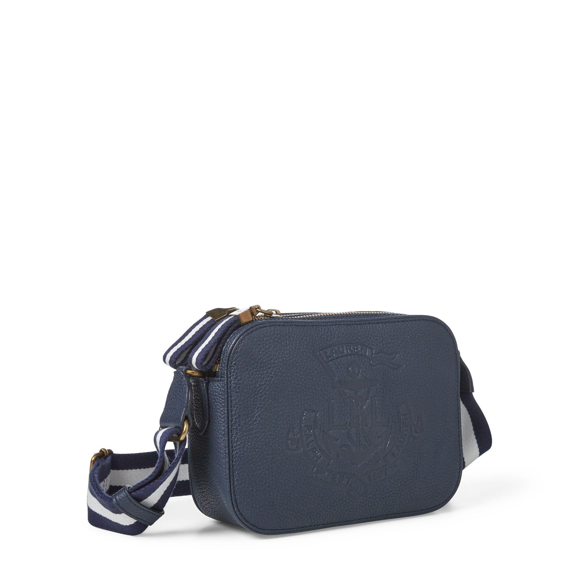 f01460c085 Lyst - Ralph Lauren Anchor Leather Camera Bag in Blue