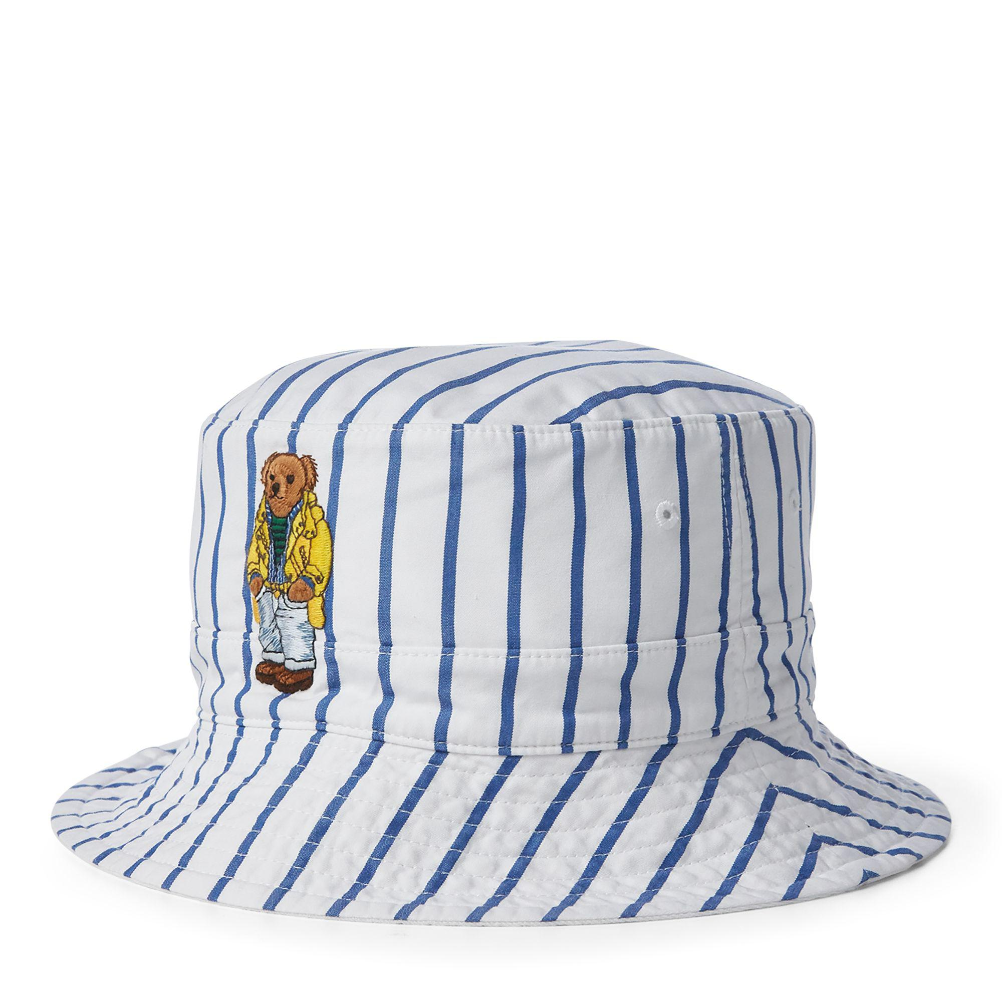 ac626f4290b73 Polo Ralph Lauren Reversible Crested Bucket Hat in Blue for Men - Lyst