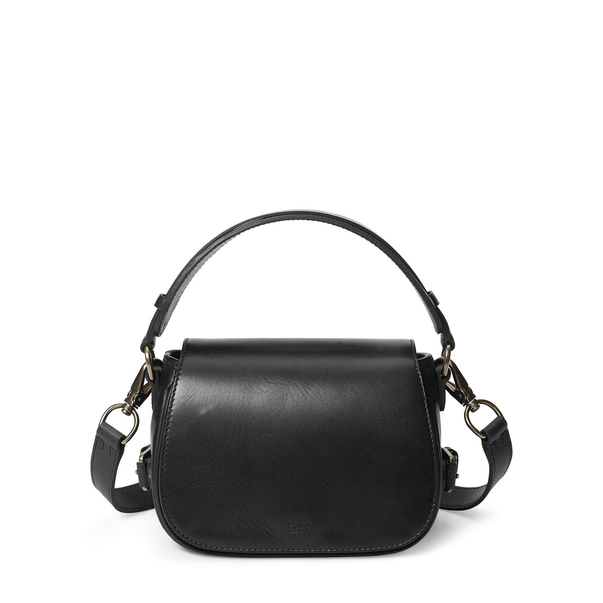 ee007aa008 Polo Ralph Lauren Small Sullivan Saddle Bag in Black - Lyst