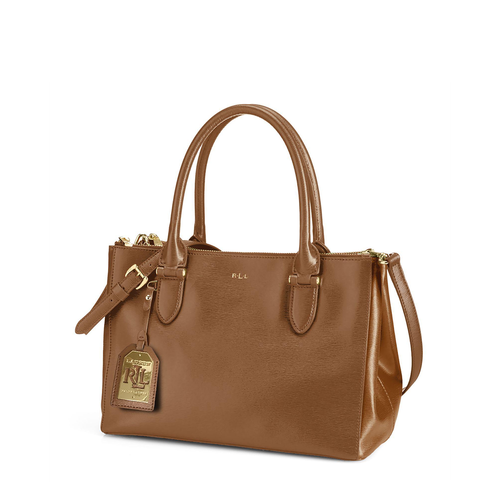 120c7ee5667 Ralph Lauren Newbury Double-zip Shopper in Brown - Lyst