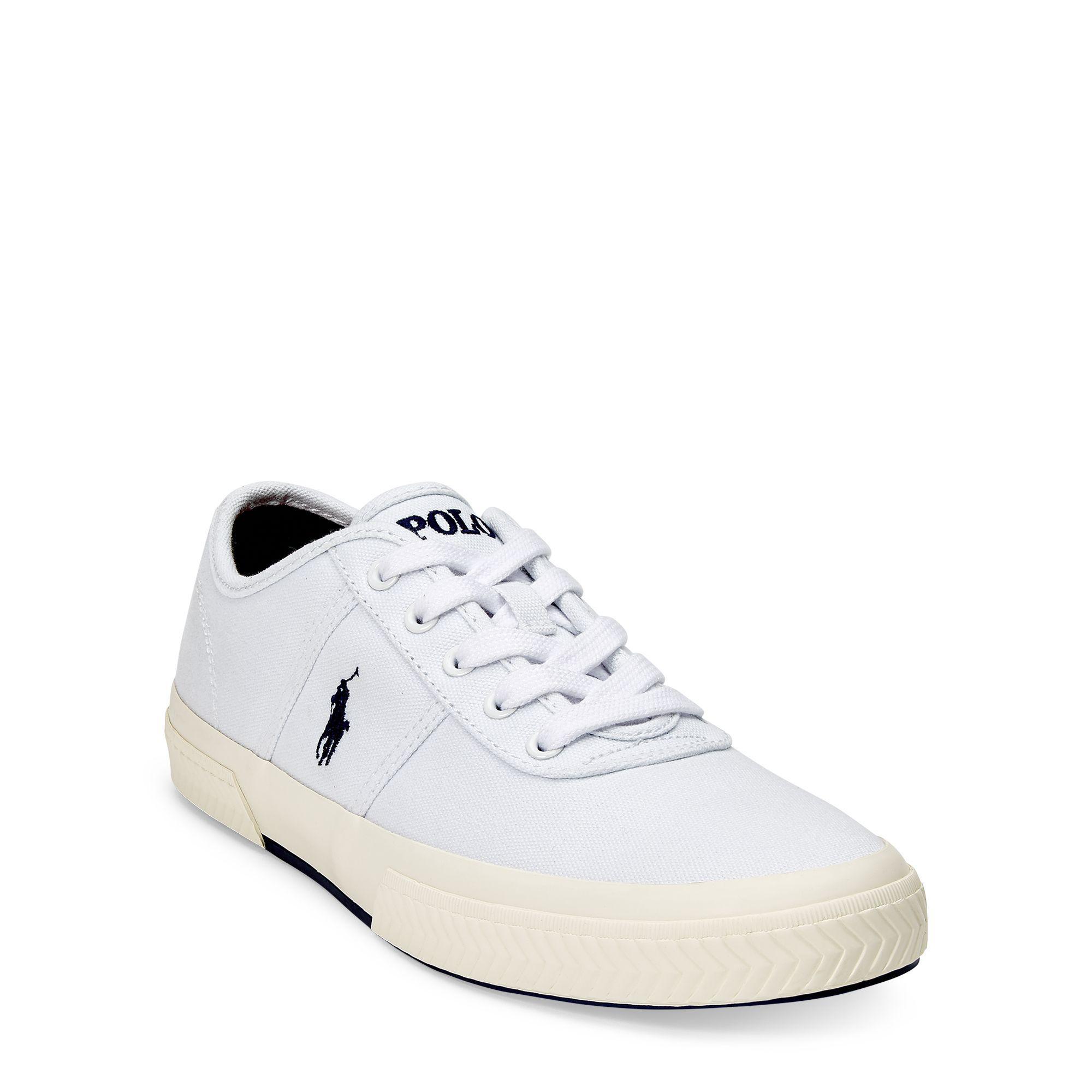 Ralph Lauren Menswear - Ralph Lauren Canvas Tyrian Shoes White