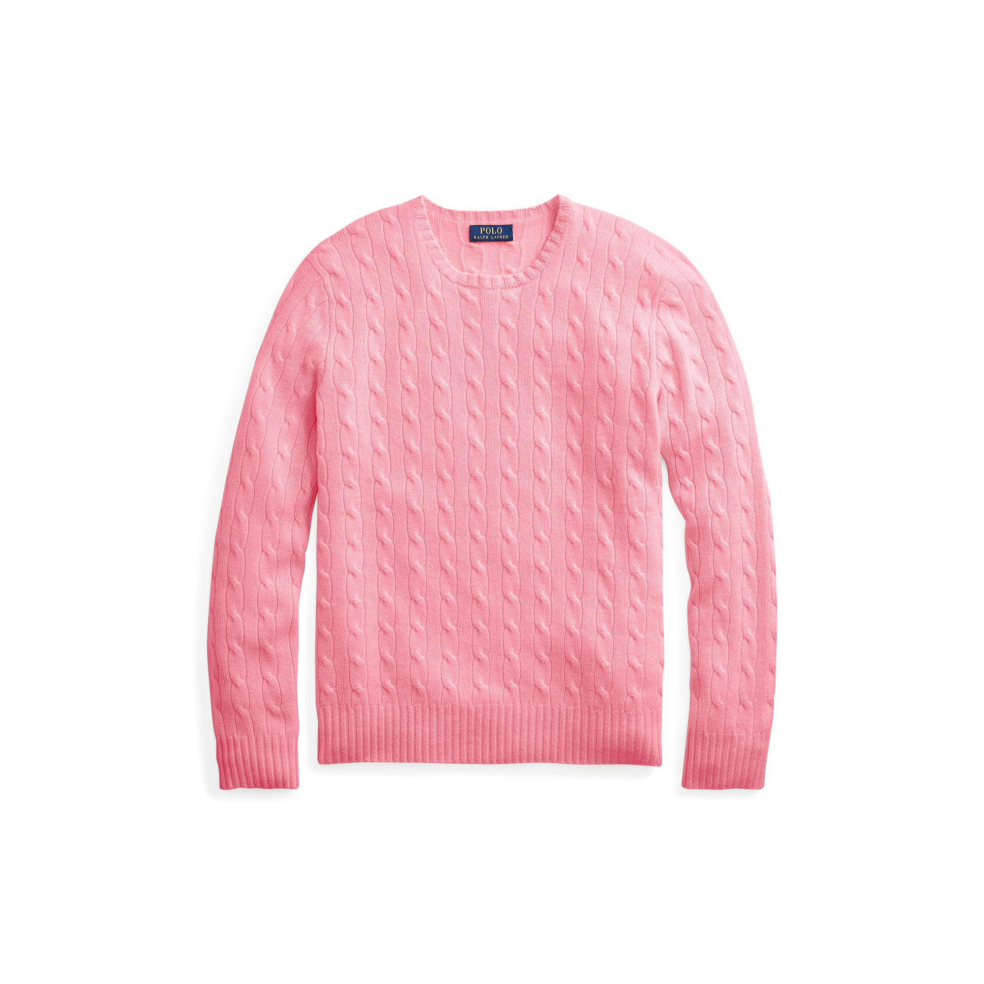 84cf5bfd5329 Polo Ralph Lauren - Pink Cable-knitted Cashmere Jumper for Men - Lyst. View  fullscreen