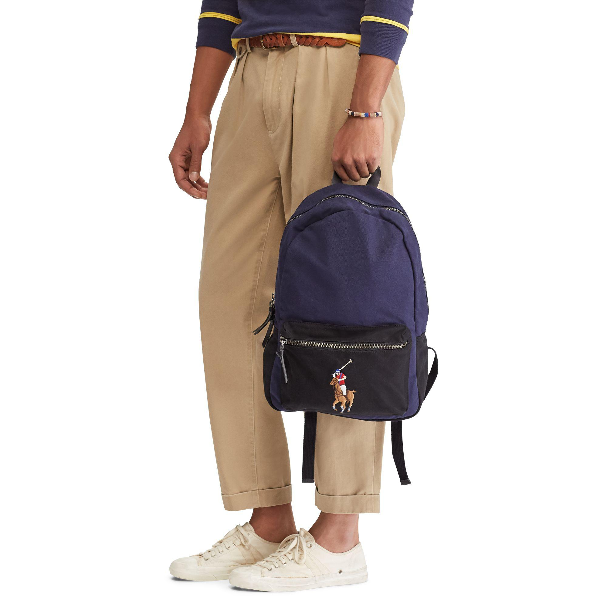 Polo ralph lauren canvas big pony backpack for men lyst jpg 2000x2000 Polo  canvas backpack cb7ac8e4f81ba