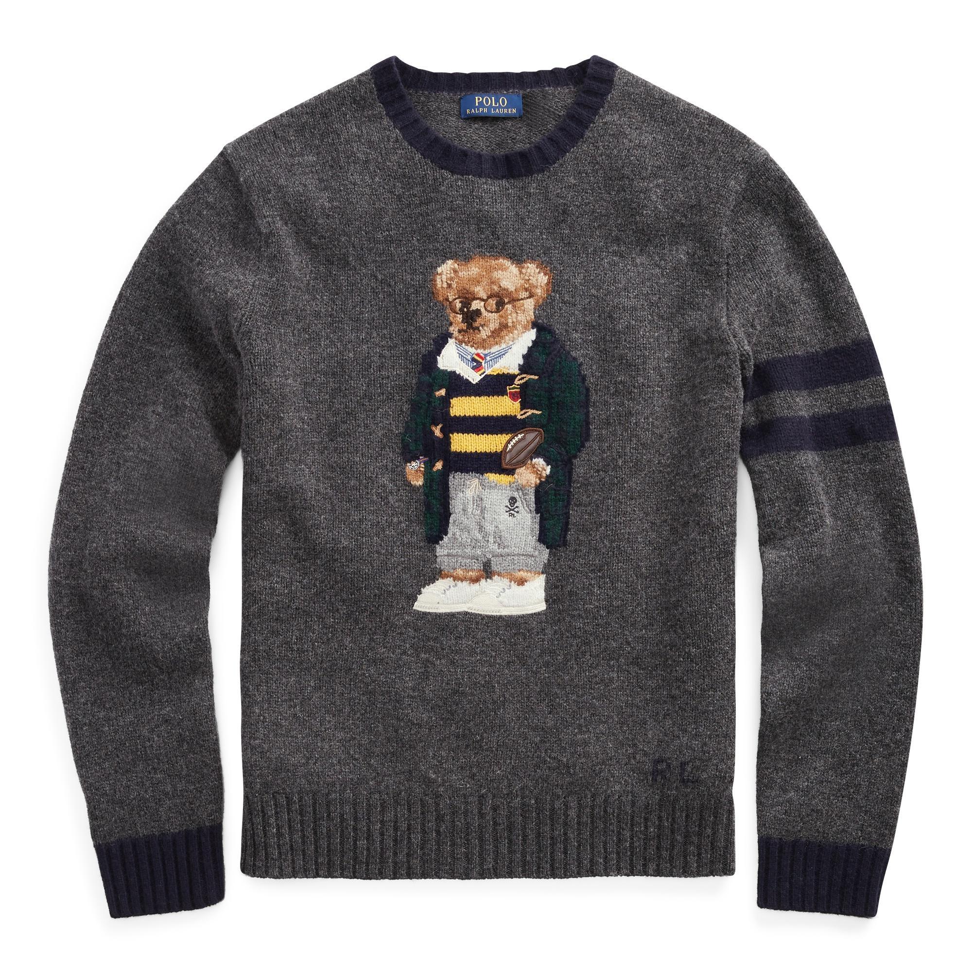 1c774615b Polo Ralph Lauren Polo Bear Jumper in Gray for Men - Lyst