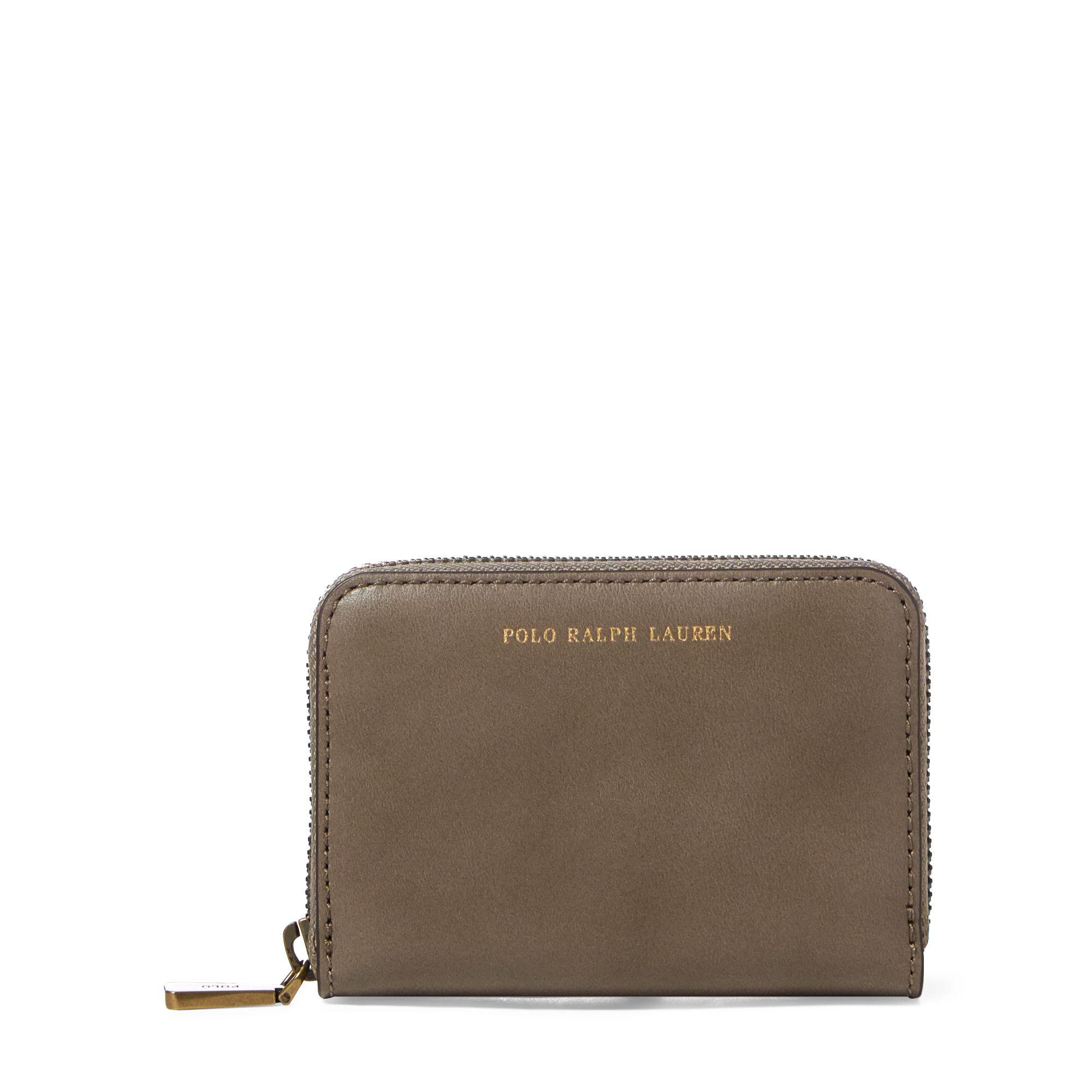 Lyst - Polo Ralph Lauren Leather Small Zip Wallet in Brown 986bcbc95e