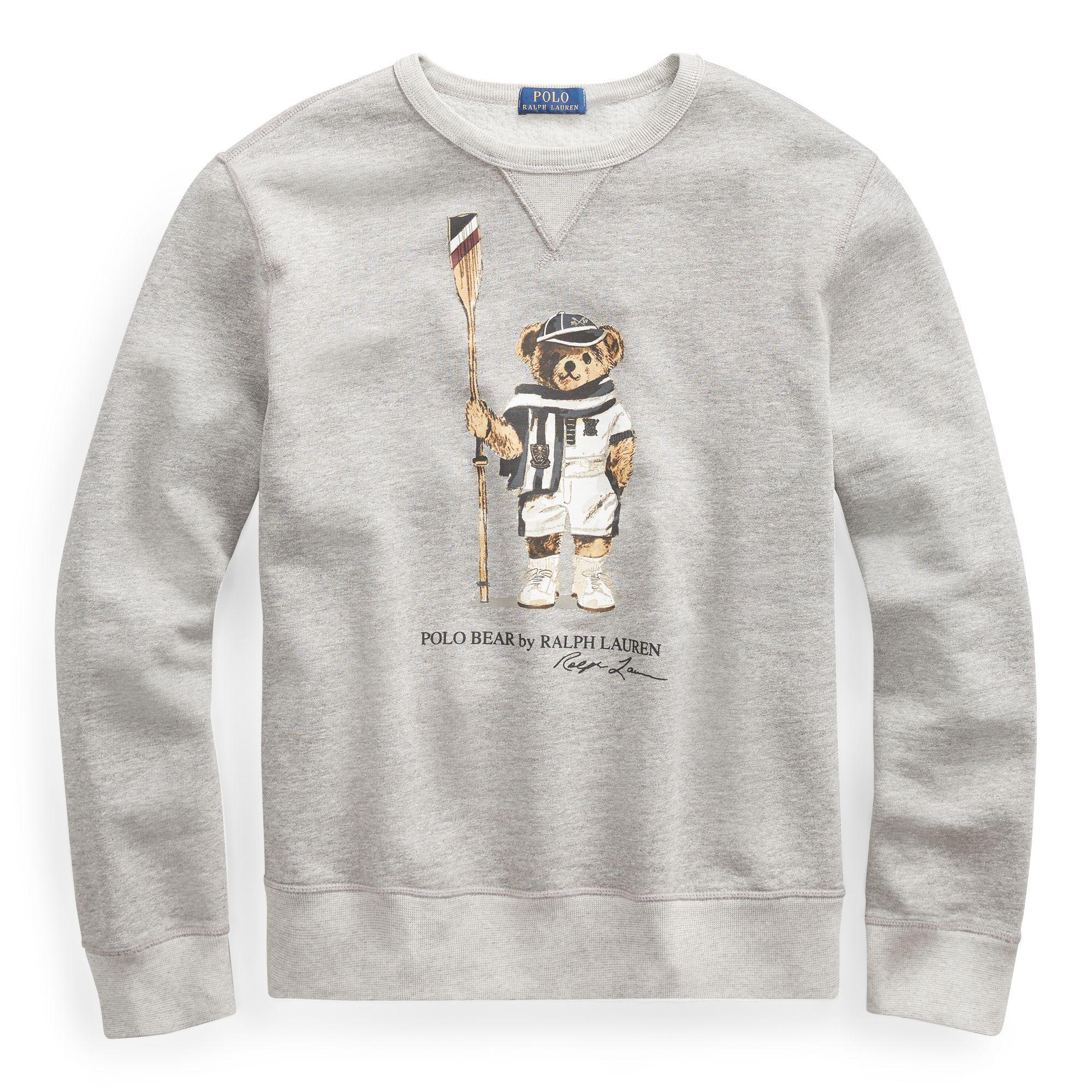 32ff7486 Polo Ralph Lauren Polo Bear Fleece Sweatshirt in Gray for Men - Lyst