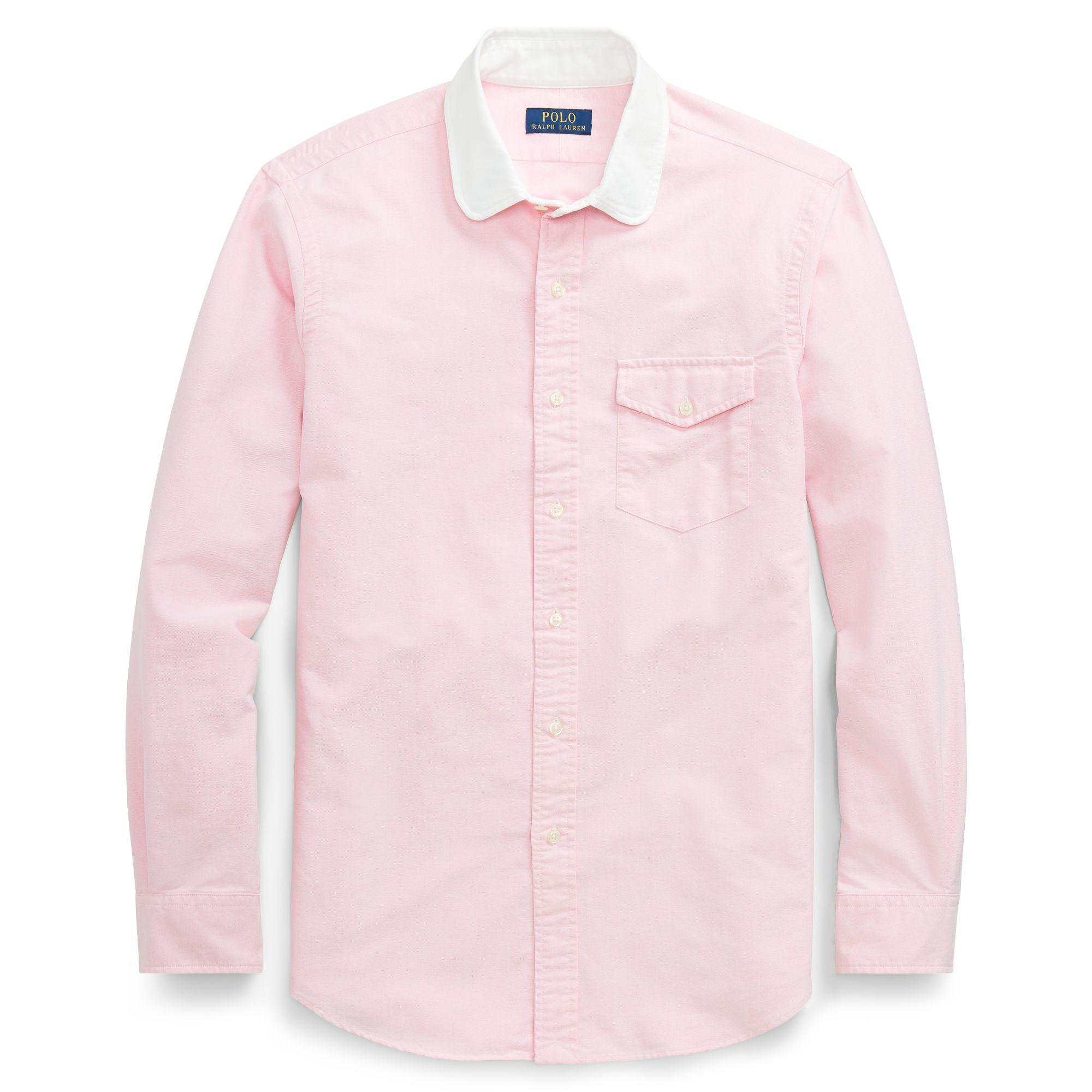 ac1e8117c122e Polo Ralph Lauren Classic Fit Oxford Shirt in Pink for Men - Lyst