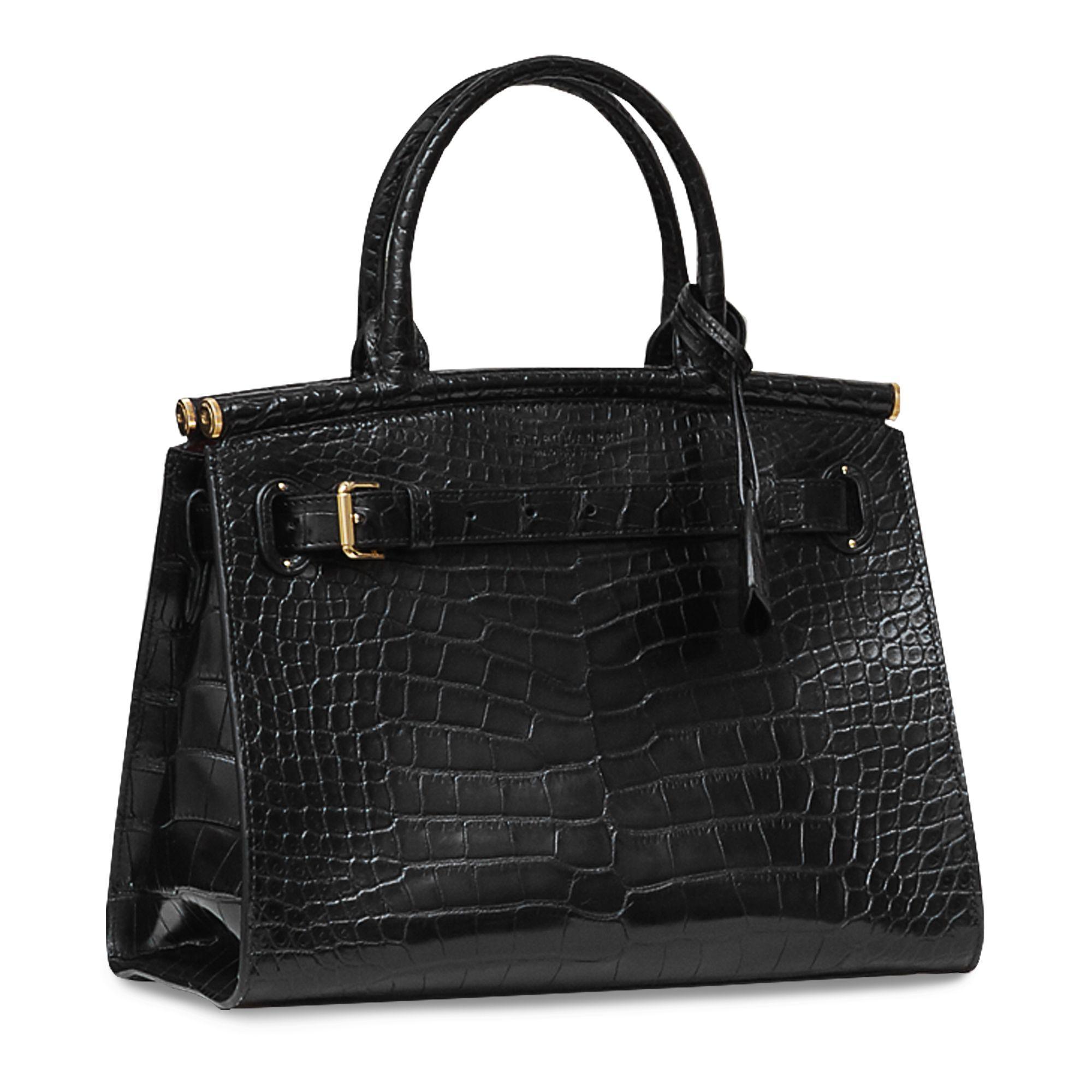 0e781c659a Ralph Lauren Alligator Medium Rl50 Handbag in Black - Lyst