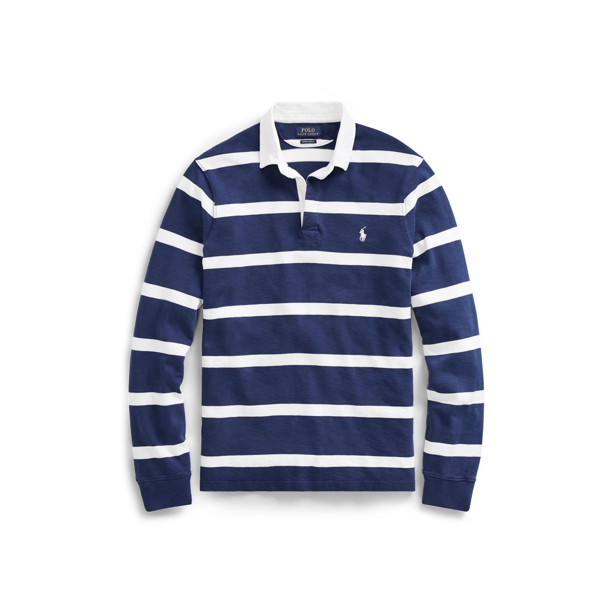 2f116f6b8 ... low price polo ralph lauren the iconic rugby shirt in blue for men lyst  5fa38 1ea0e