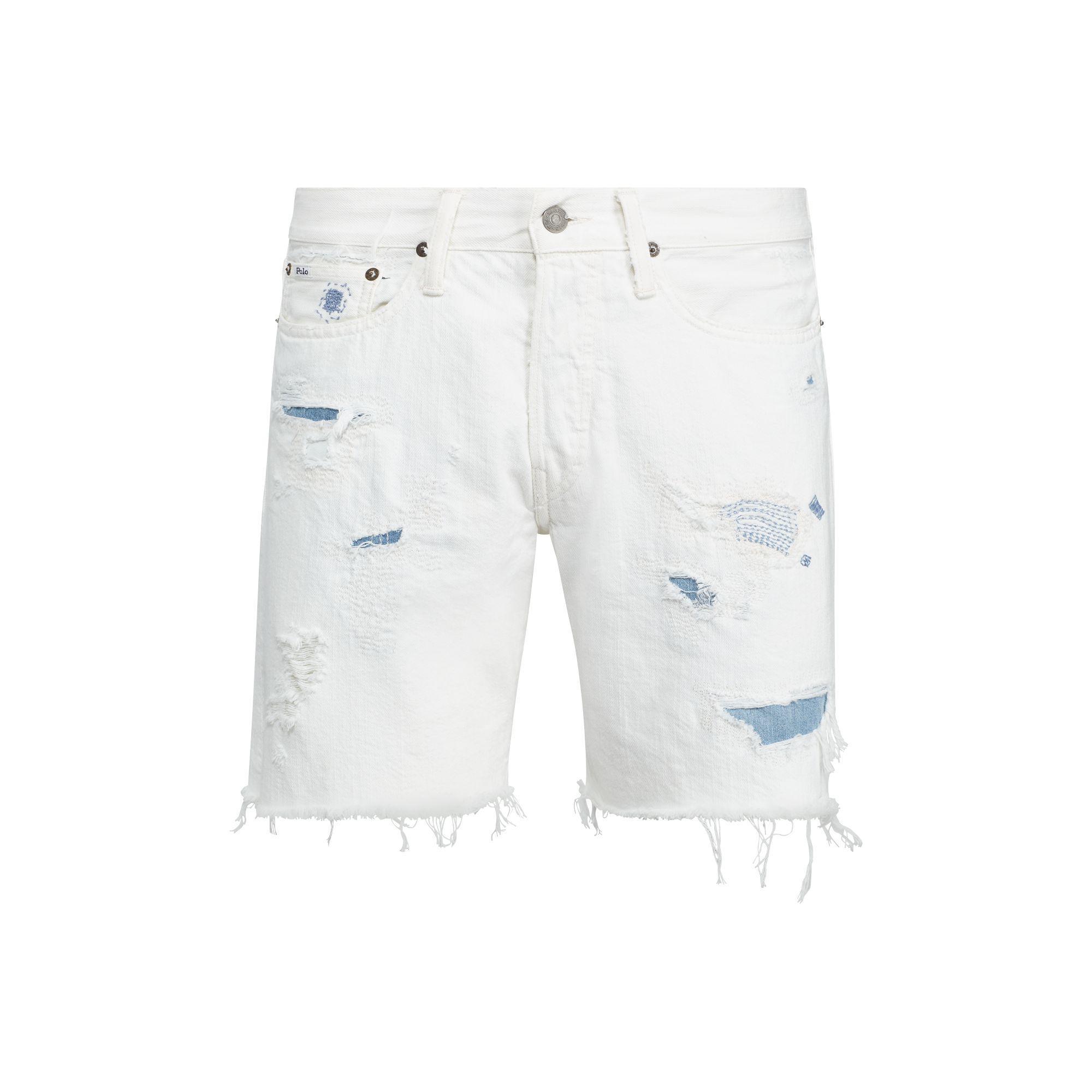 d0a73446f Polo Ralph Lauren Sullivan Slim Cutoff Short in White for Men - Lyst