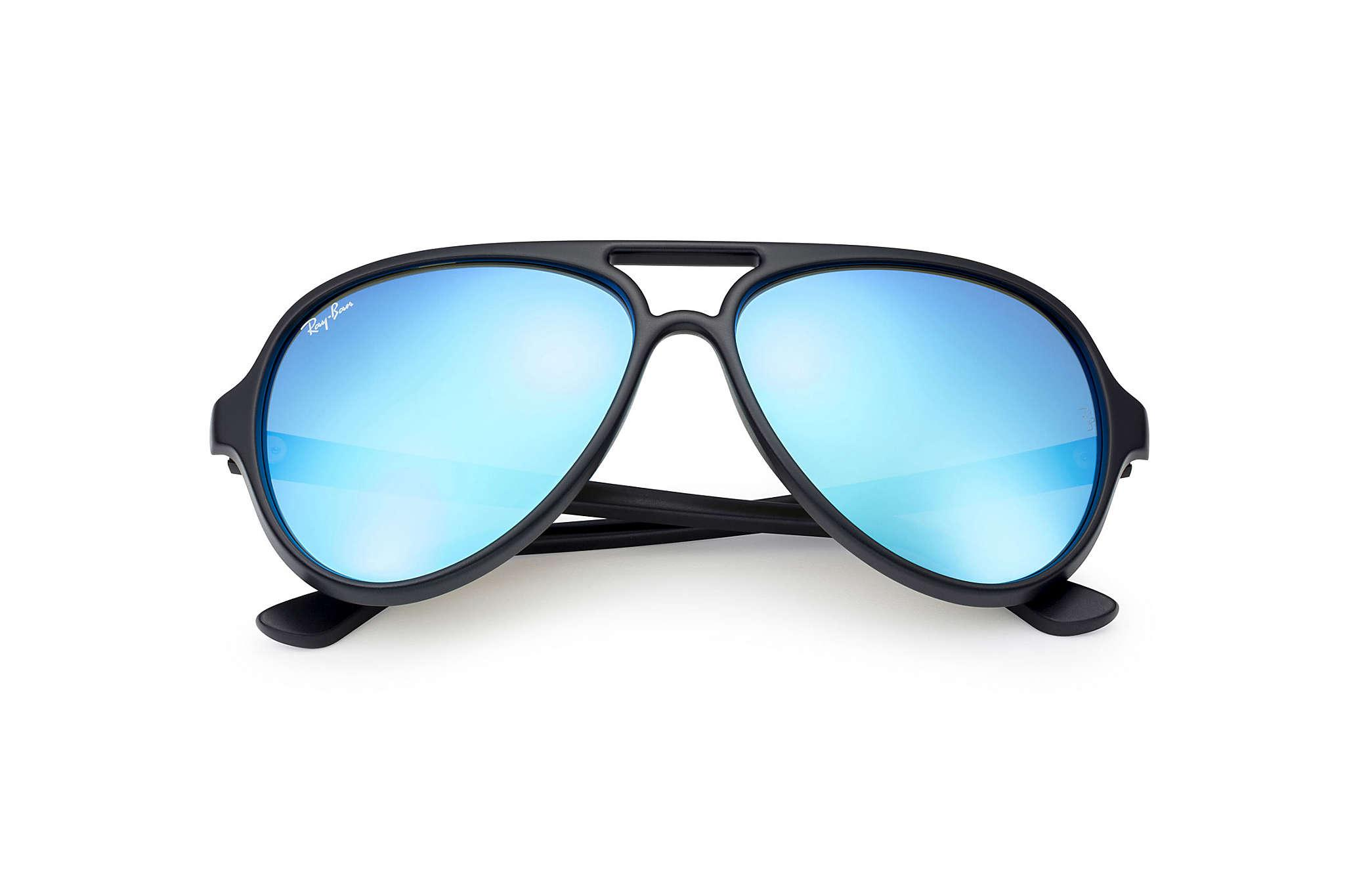 8381bd0379 ... good lyst ray ban cats 5000 flash lenses in blue 7c66b 059a8