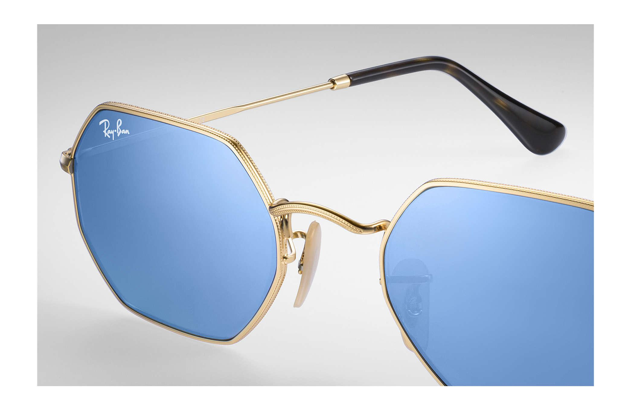 121125dc38 Ray-Ban Octagonal Flat Lenses in Blue - Save 23.684210526315795% - Lyst