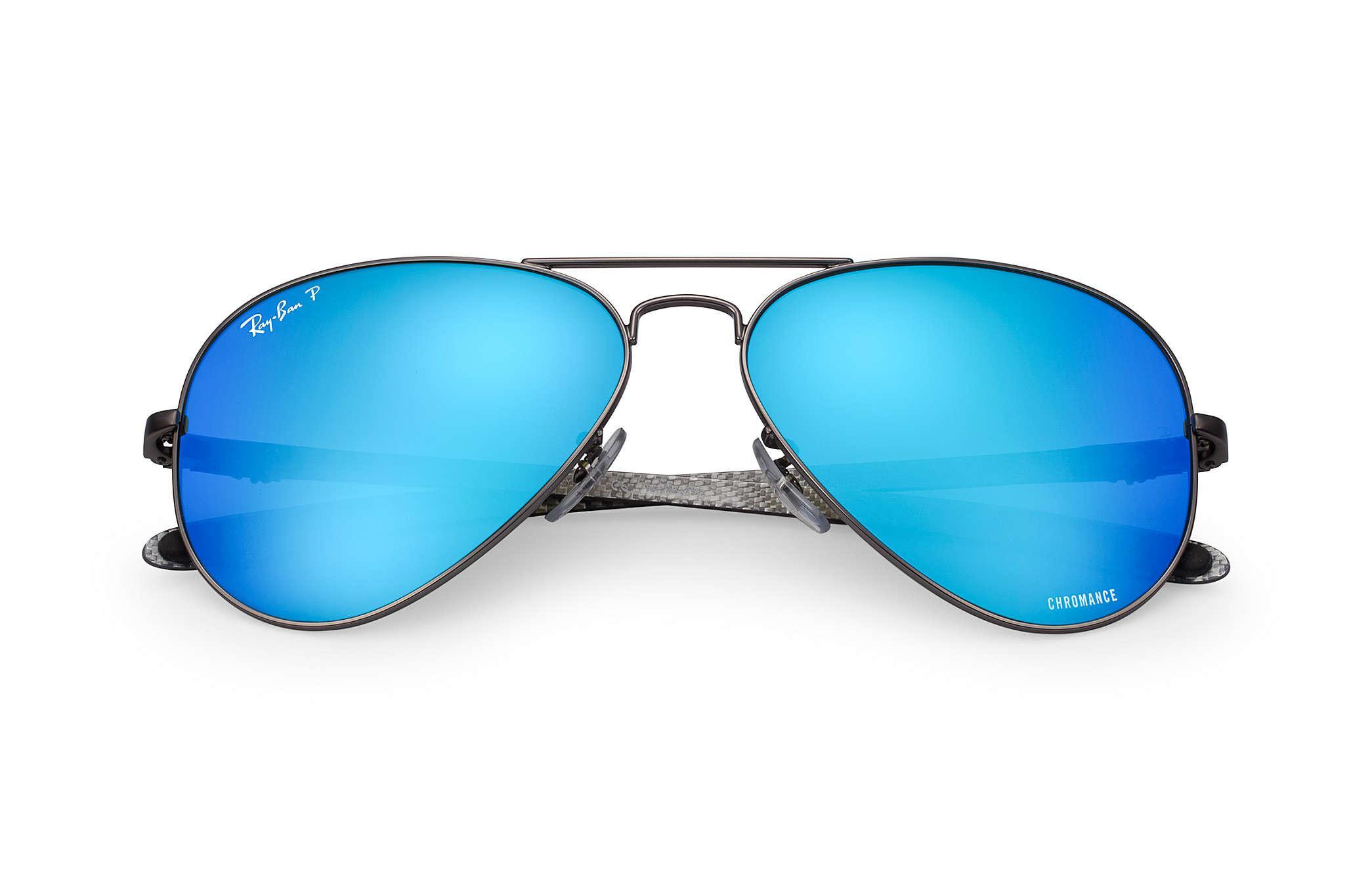 037a07a921 Ray-Ban - Blue Rb8317 Chromance Gunmetal - Lyst. View fullscreen