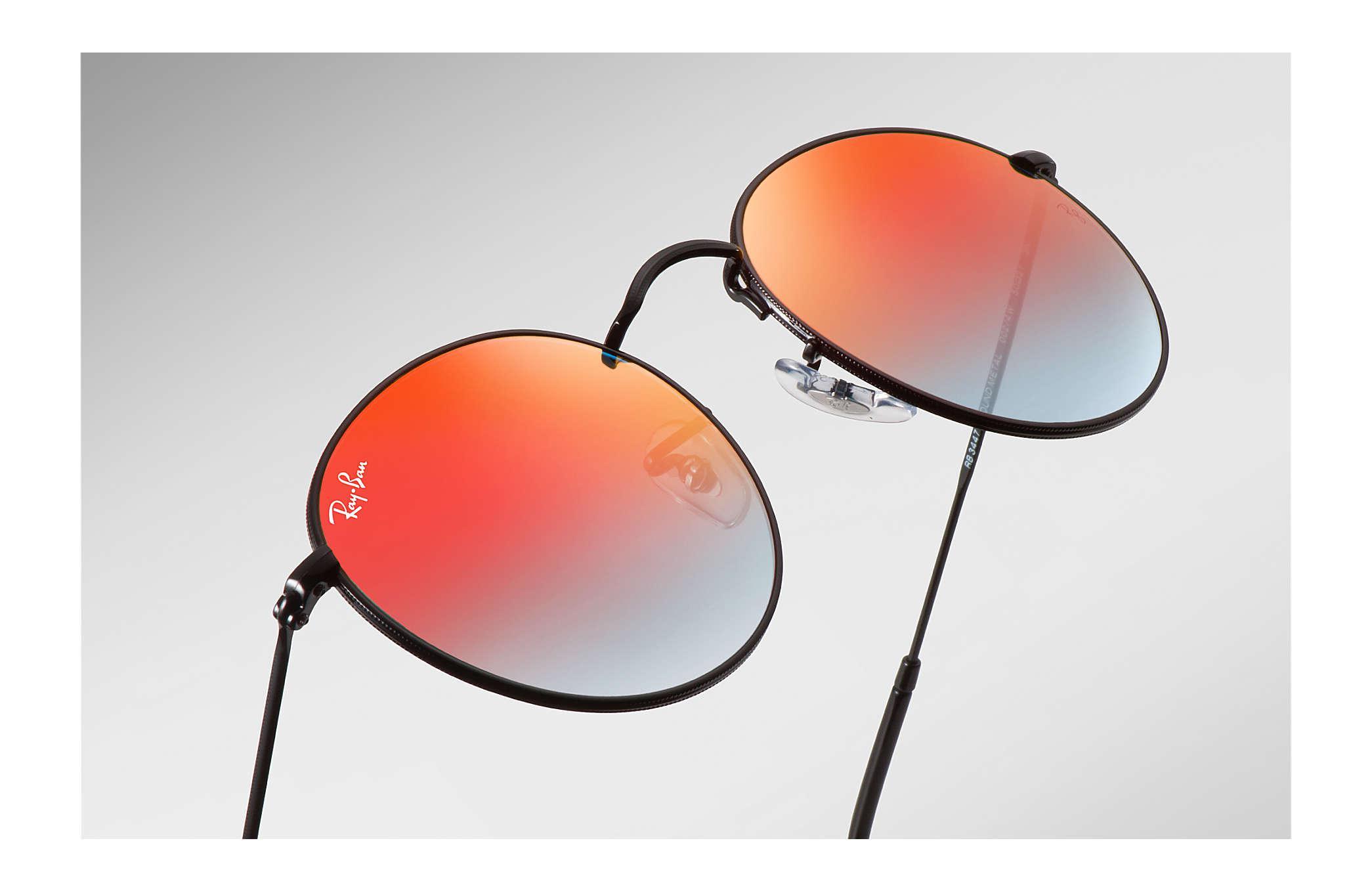 b86ae878ccc3 Ray-Ban - Black Round Flash Lenses Gradient for Men - Lyst. View fullscreen