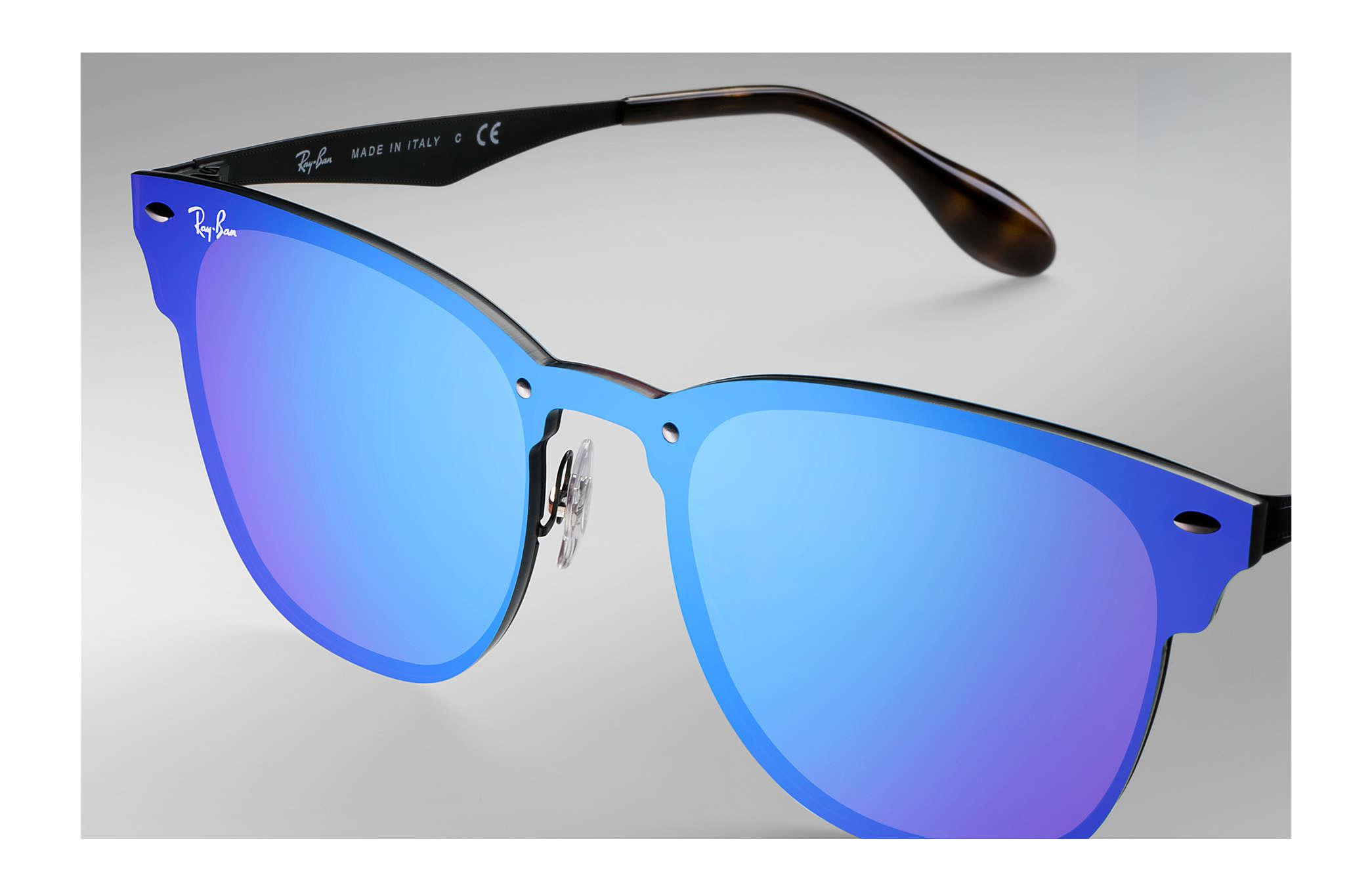 532609690d9 ... store ray ban blue blaze clubmaster for men lyst. view fullscreen d36cd  c62e2