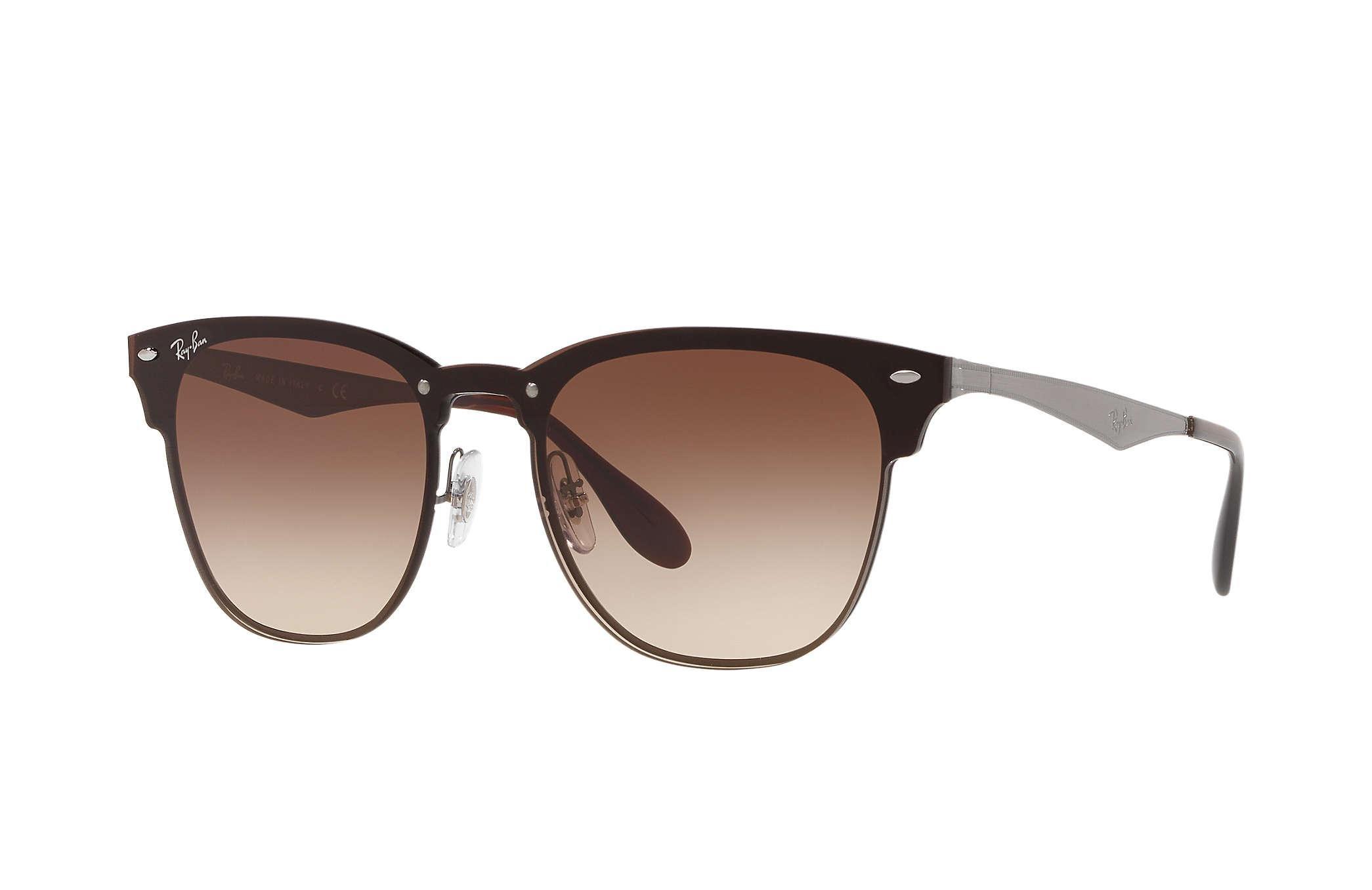 b352addf3814c Ray-Ban Blaze Clubmaster Sunglasses in Brown for Men - Lyst