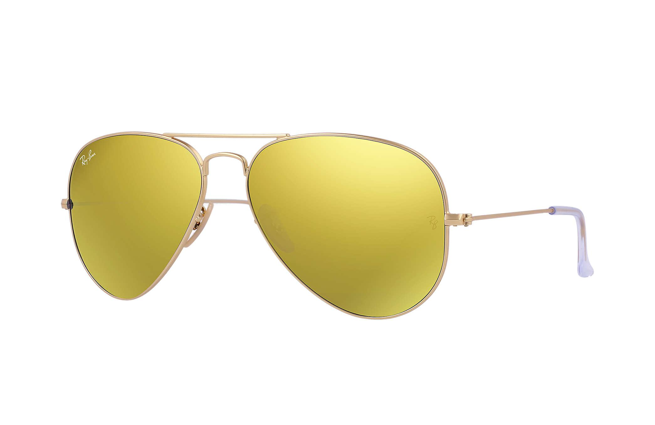 96d76efae78 Ray-Ban Aviator Flash Lenses in Yellow - Lyst