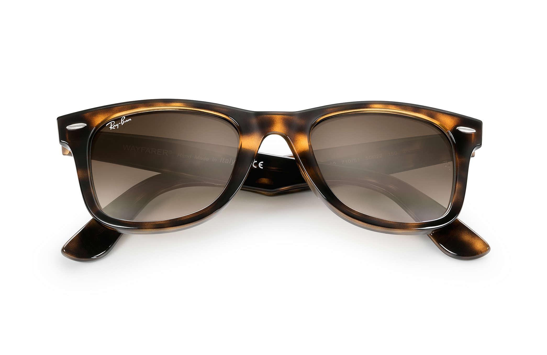 55610b881a Ray-Ban - Brown 50mm Wayfarer Ease Gradient Sunglasses - Lyst. View  fullscreen