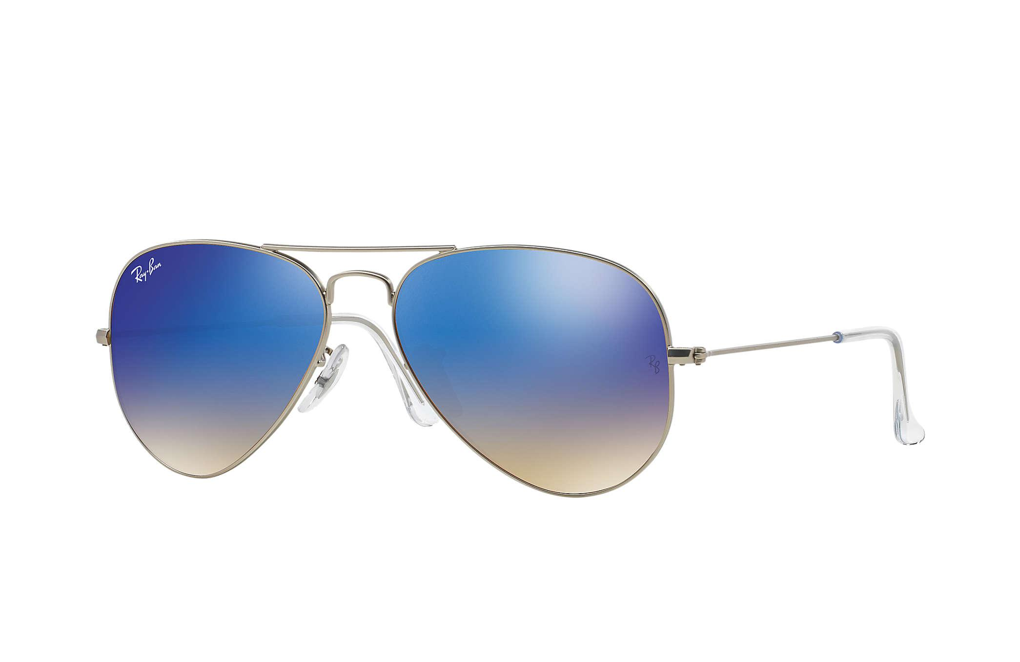 Ray-Ban Aviator Flash Lenses Gradient in Blue - Lyst 9733367135