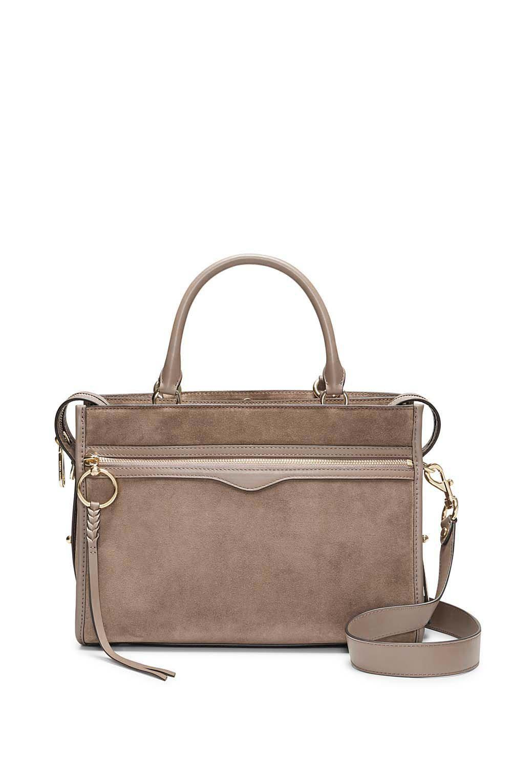 55c5b5f4d2e Rebecca Minkoff Bedford Zip Satchel in Brown - Lyst