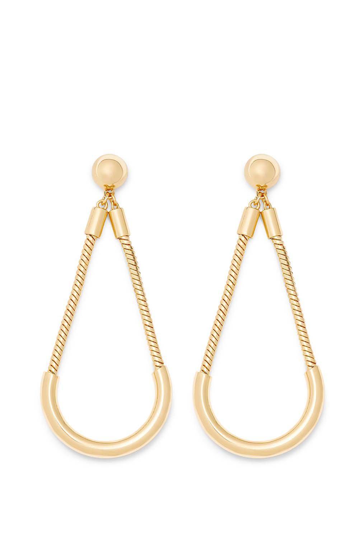 188eeb6ca Lyst - Rebecca Minkoff Tube And Chain Earring in Metallic