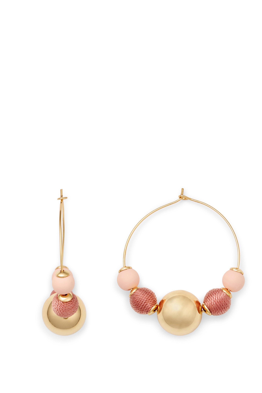 563f3e1d9 Lyst - Rebecca Minkoff Multi Ball Hoop Earring