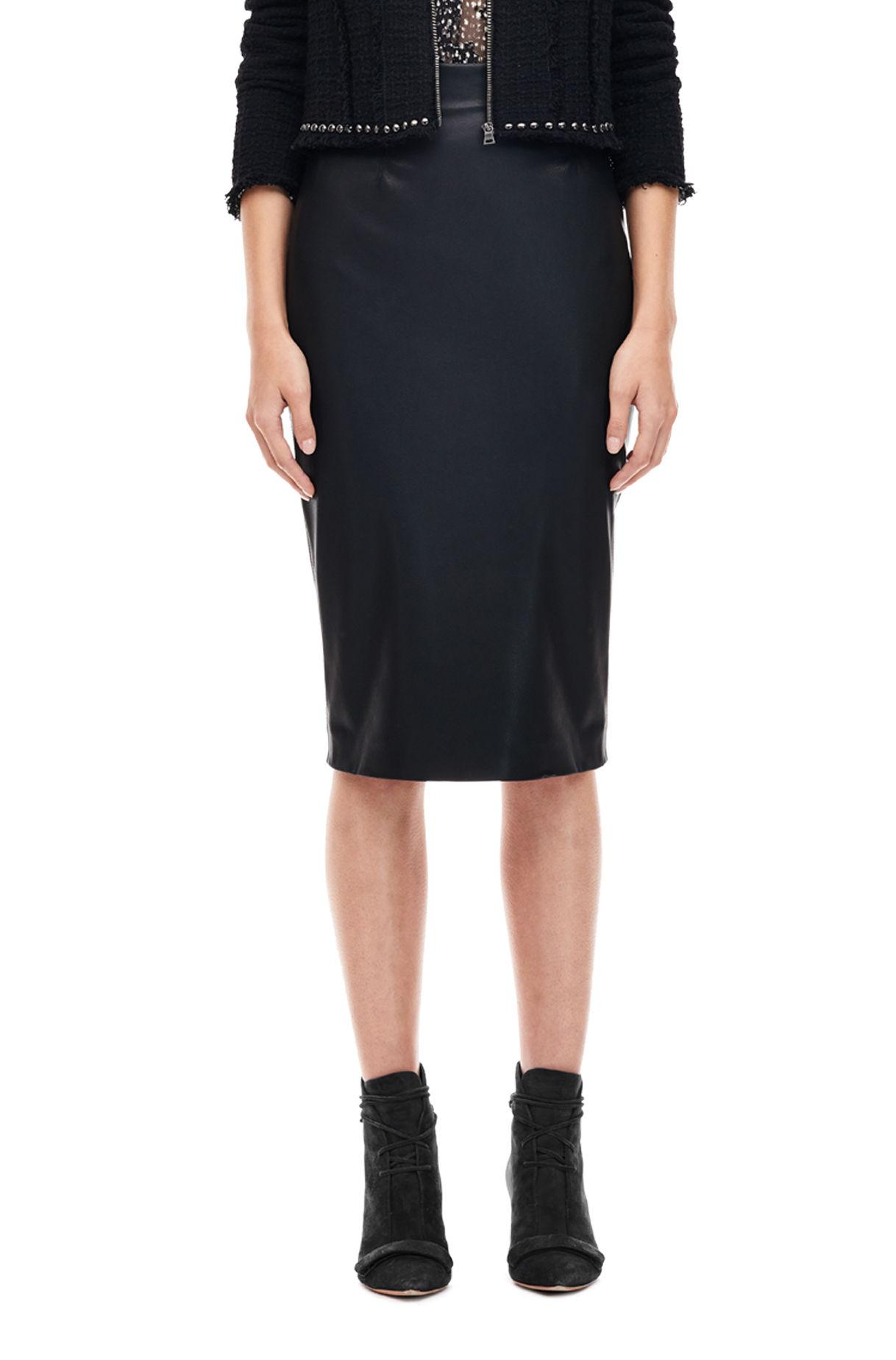 vegan leather pencil skirt in black lyst