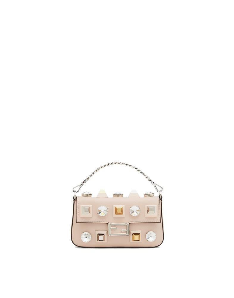 39c03e91be Lyst - Fendi Women's 8m0354sf9f07mj-mcf Beige Leather Handbag in Natural