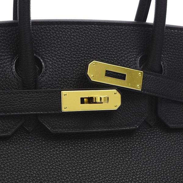 24c5d716ee3d Lyst - Hermès Birkin 30 Togo Black Gold Hardware C Mark in Black
