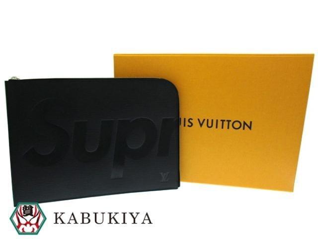 63dcb94c87c7 Lyst - Louis Vuitton Authentic X Supreme Noir Epi Pochette Jour Gm ...