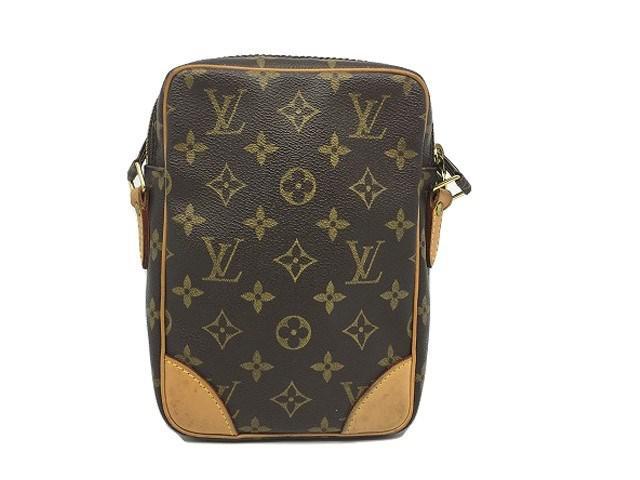 6bda3878bb73 Lyst - Louis Vuitton Monogram Canvas Danube Shoulder Bag Brown ...