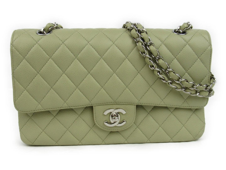 60a21efdb119ef Chanel Matelasse W Flap Chain Shoulder Flap Bag Caviar Skin Leather ...