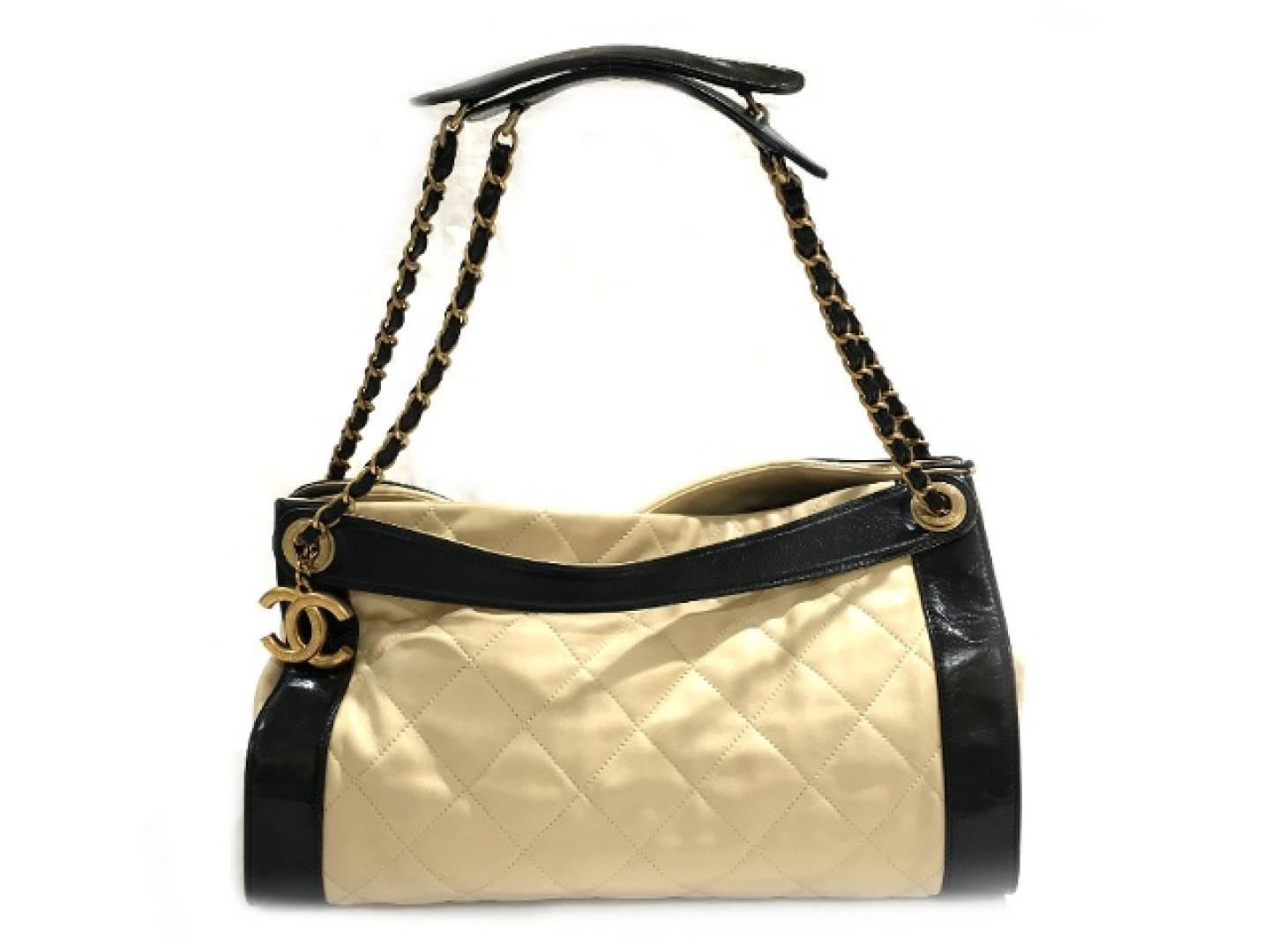bc21736e9c0 Lyst - Chanel 3 Way Chain Shoulder Bag Sheep Leather (lamb) Beige ...