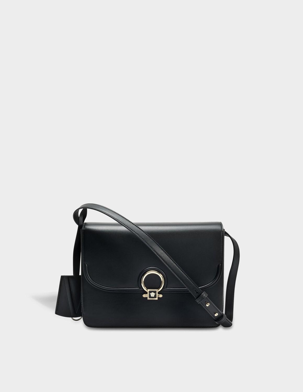 571ae945f766 Lyst - Versace Dv One Shoulder Bag In Black Calf in Black