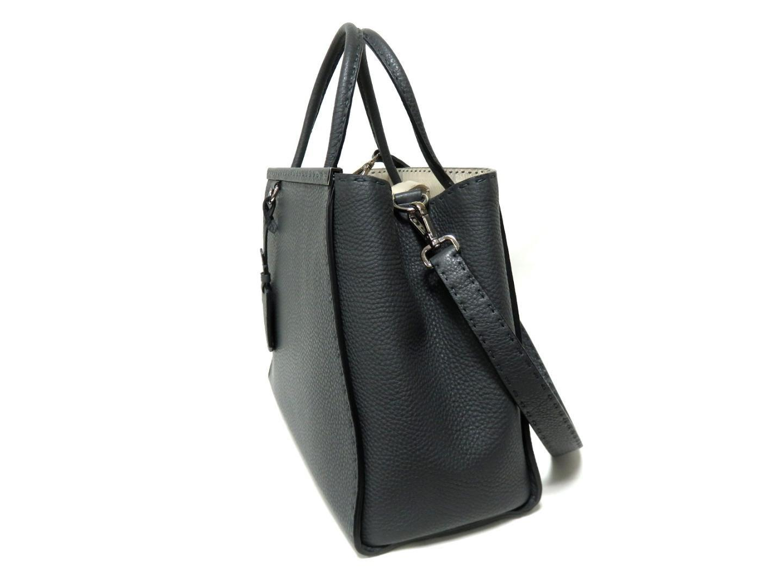 eedaedb9f85f Lyst - Fendi 2 Jours Shoulder Hand Bag Calf Skin Leather Grey Used ...