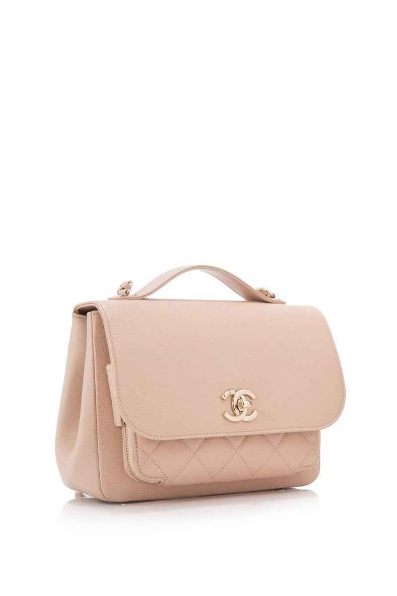 aade6156b0b8 Chanel Pre-owned Business Affinity Small Flap Bag in Natural - Lyst