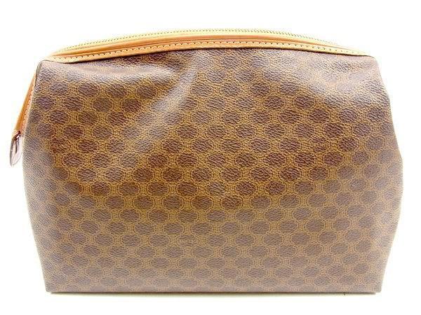 f8b1d425b7 Lyst - Céline Clutch Bag Macadam Unisexused Y7571 in Brown