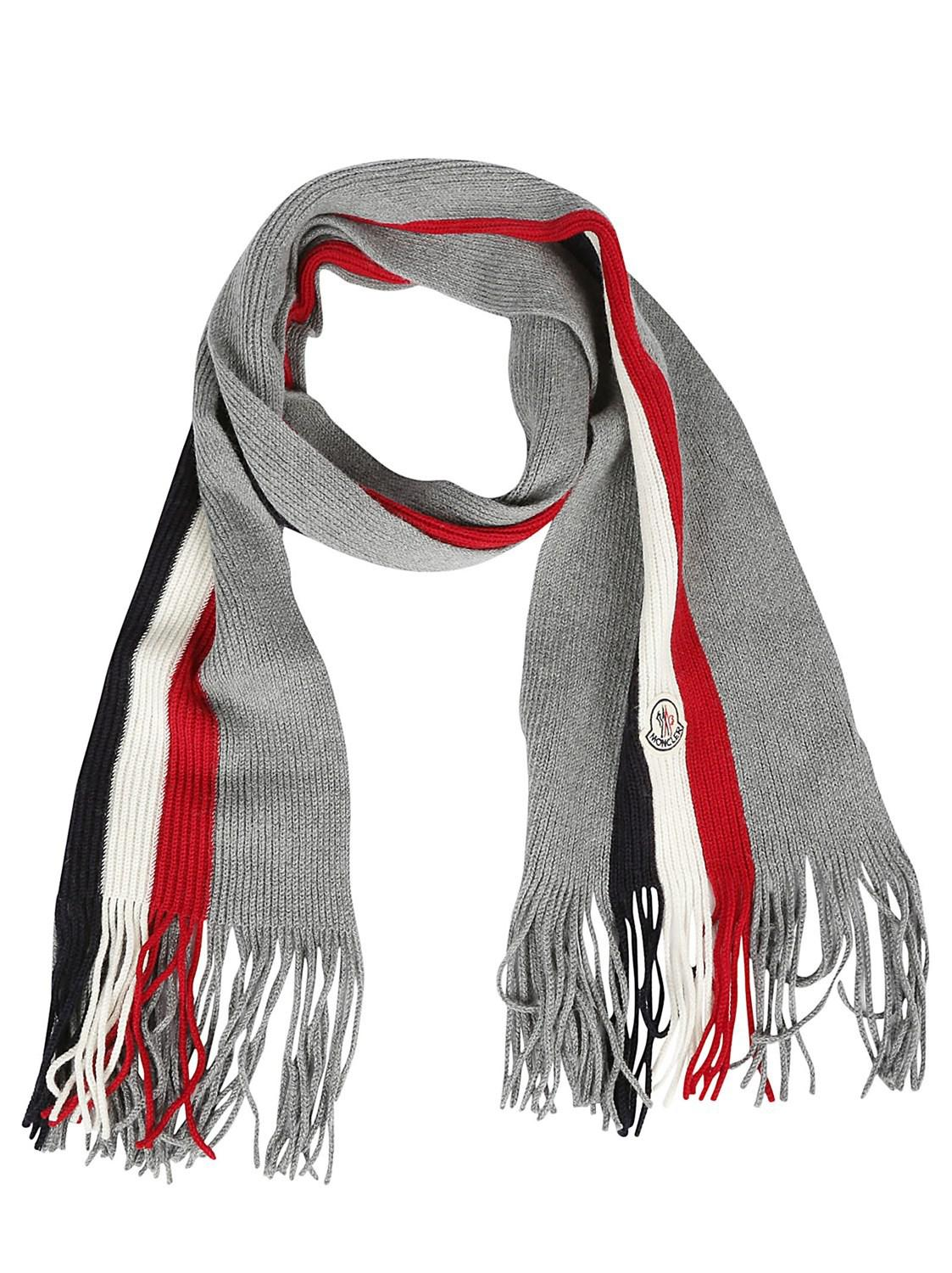 Moncler. Men's Gray Scarf