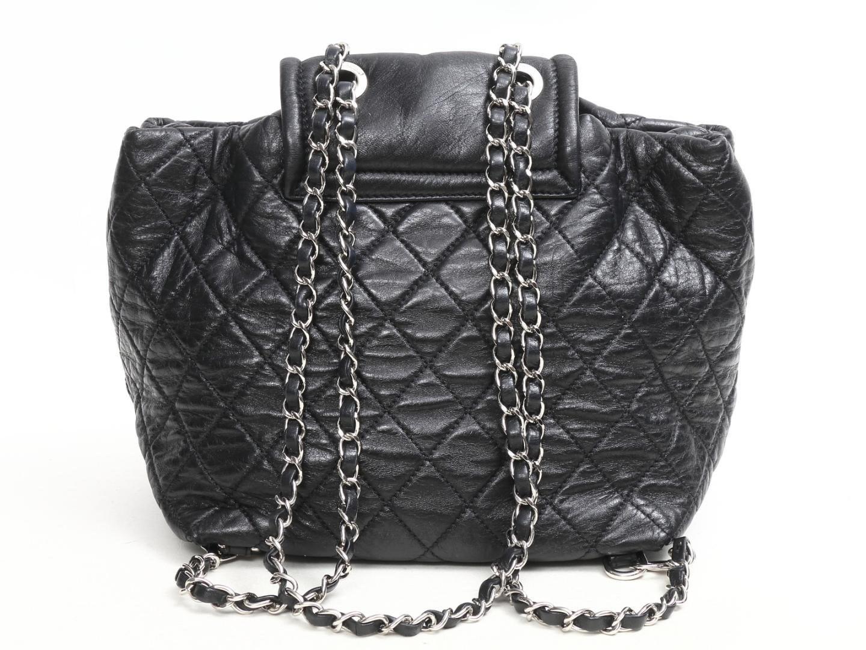 Lyst - Chanel Matrasse Chain Backpack Bag Leather Black in Black e60b15fce7951