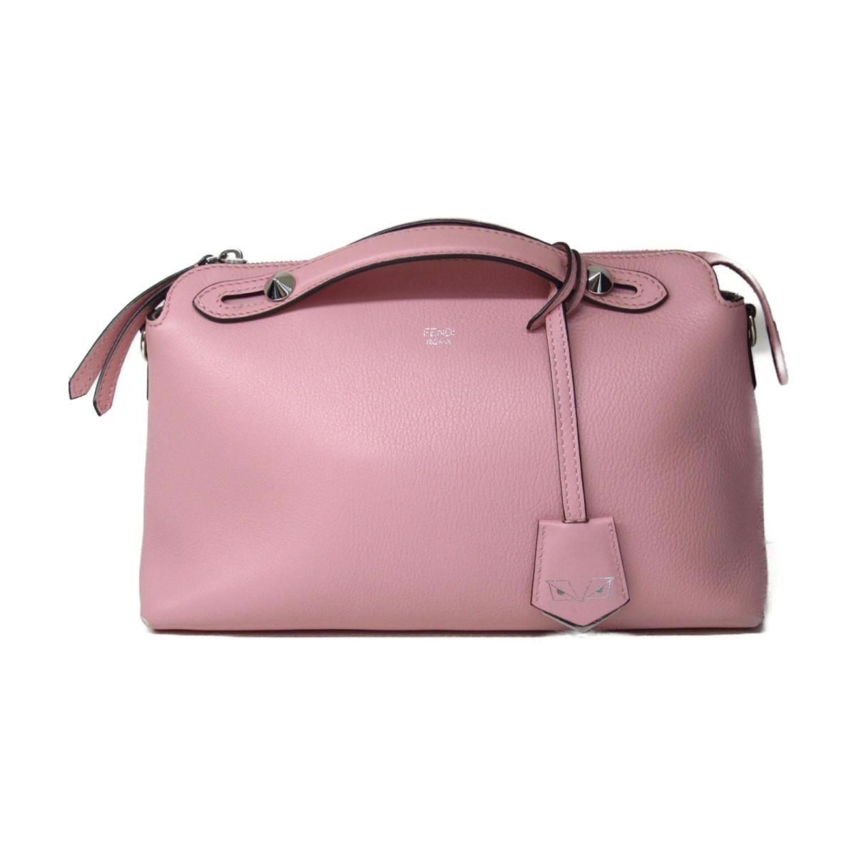 cfb195c6959a Lyst - Fendi By The Way Shoulder Hand Bag 8bl124 Leather Pink Used ...