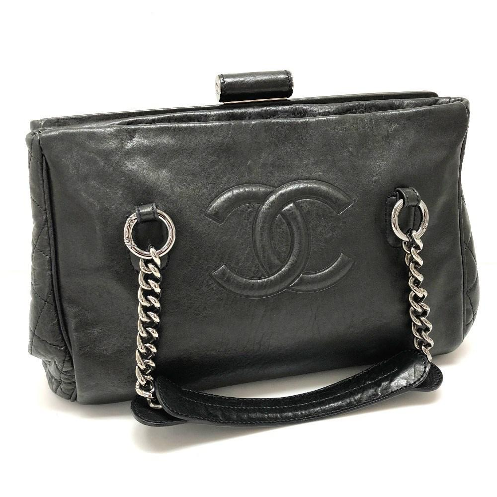 52e3c21bbc4b1 Lyst - Chanel Kisslock Cc Cc Mark Vintage Style Leather Tote Bag ...
