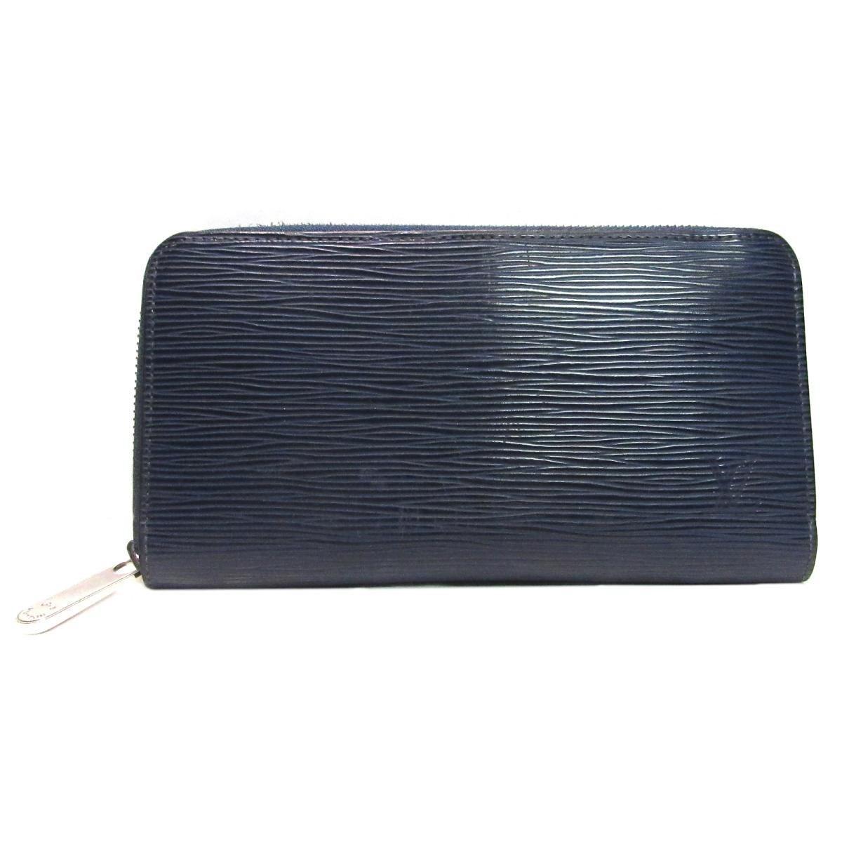 5c66abb5f88 Louis Vuitton Authentic Zippy Wallet M61873 Epi Leather Indigo Blue ...